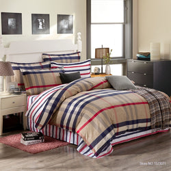 Brown Lines Bedding Set | 99sheets