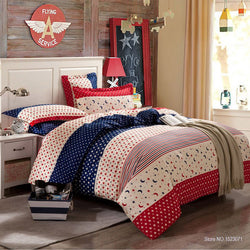 Mixed Pattern Red, White, Blue Bedding Set | 99sheets