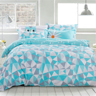 Cheerful Owl Bedding Set (Blue) | 99sheets