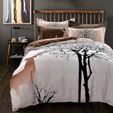 Deer and Trees Brown Bedding Set | 99sheets