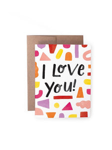 I Love You Shapes Card