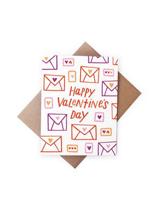 Valentines Day Love Letters Card