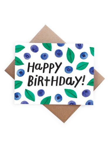 Birthday Blueberries Card