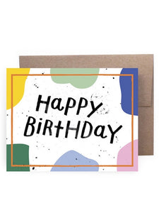 Birthday Shapes Paint Card