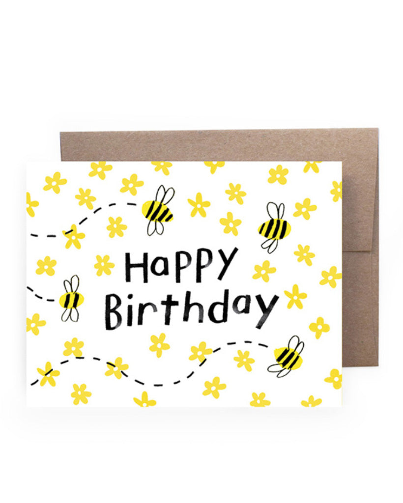 Birthday Bees Card