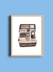 Polaroid Camera Art Print