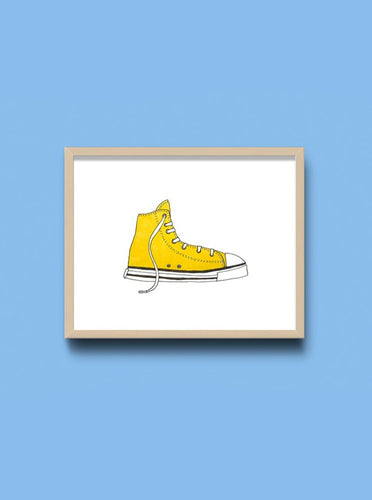 Yellow Sneaker Art Print