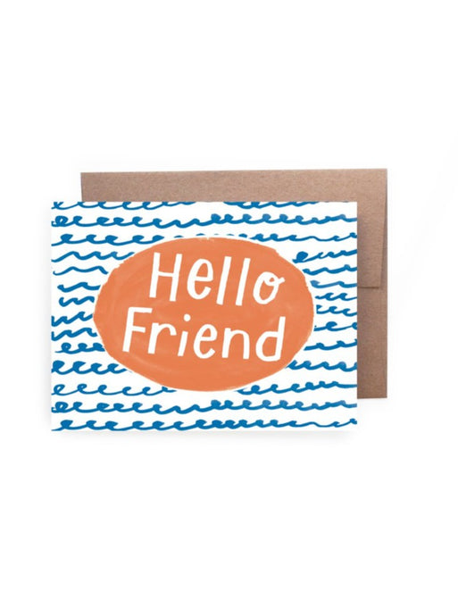 Hello Friend Squiggles Card