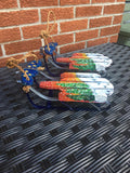 Hand-Painted Mini Decorative Sleds