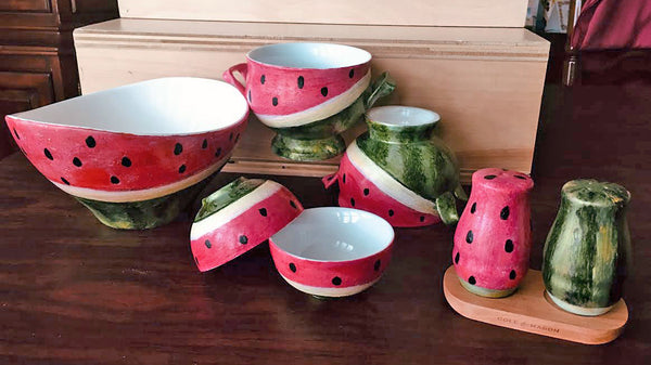 Watermelon Collection: Hand painted Porcelain