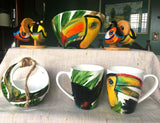 The Rainforest Collection - Hand-Painted Porcelain