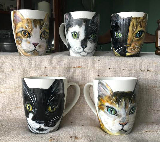 Hand Painted Pet Mugs - Custom made!