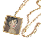 "GOLD Necklaces: Original Pastel ""ART-DECO"" Inspired Art Necklaces"