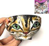 Custom Art Bowls: 2 Sizes... Hand-painted Porcelain, Personalized