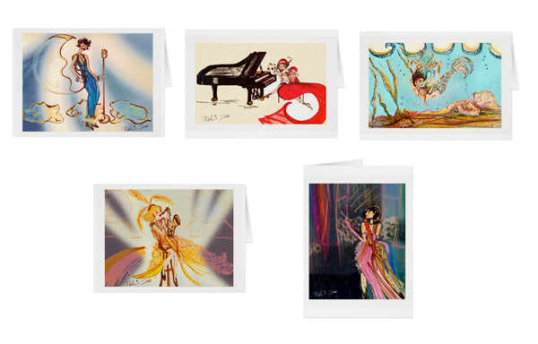 'DECO FEMME' Performers Series - NOTE CARD SET of 5