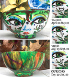 The 4 ELEMENTS with Zodiac Sign Porcelain BOWLS