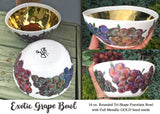 Gold lined Bowl!  Exotic Grapes