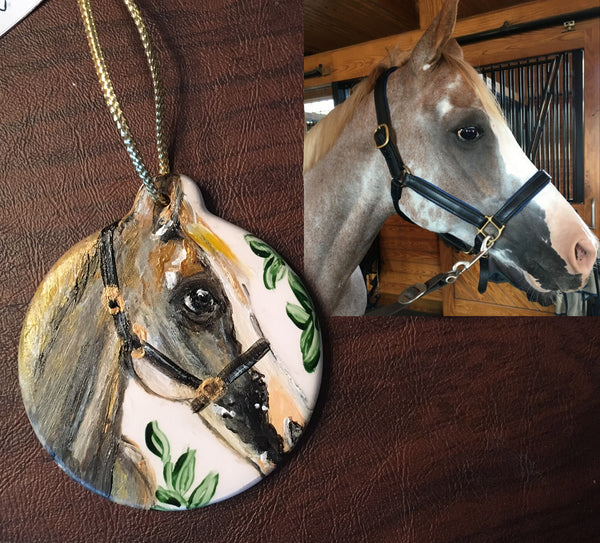 CUSTOM Pets: Hand-painted Hanging Porcelain