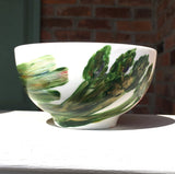 VEGGIE GARDEN Hand-Painted Porcelain Bowl Collection