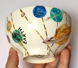 SCIENCE Themed: Hand-painted Porcelain Art Bowls
