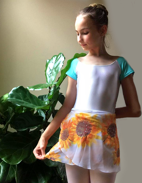 Hand-Painted Ballet Sheer Wrap Skirts