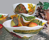 AUTUMN & THANKSGIVING COLLECTION: Hand-Painted Porcelain Holiday DECOR