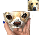 "Pets and ""PupArt"" CUSTOM Art Bowls:  **NOW IN 3 SIZES!"