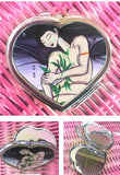 Compact Heart Shaped Mirror