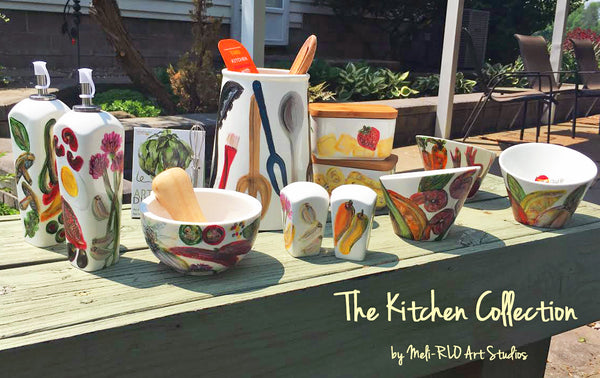 The Gourmet Kitchen Collection, Hand-Painted Porcelain
