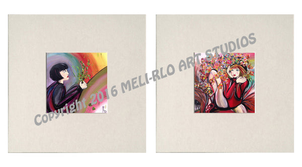 "Matted Prints: ""Withheld & Wishing"" SET of 2"