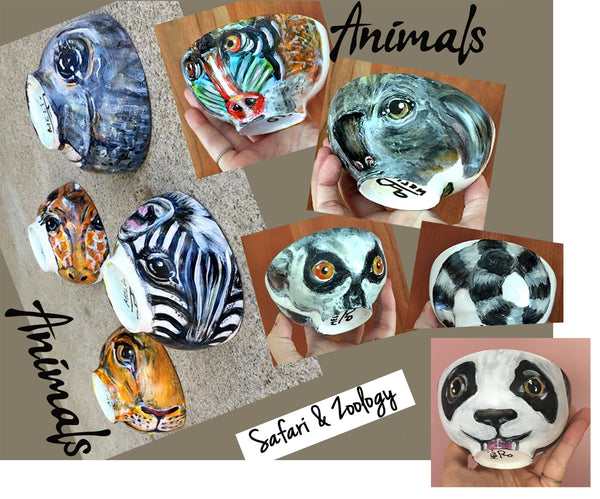 Safari & Zoology Collection - ZEBRA  GIRAFFE  LION  ELEPHANT  KOALA  LEMUR  BABOON PANDA