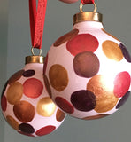 ORNAMENTS: Holiday Hand-Painted Festive Porcelain Ornaments by Meli-RLO