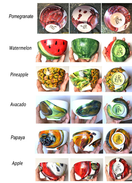 """FRUIT"" Art Porcelain Bowls"