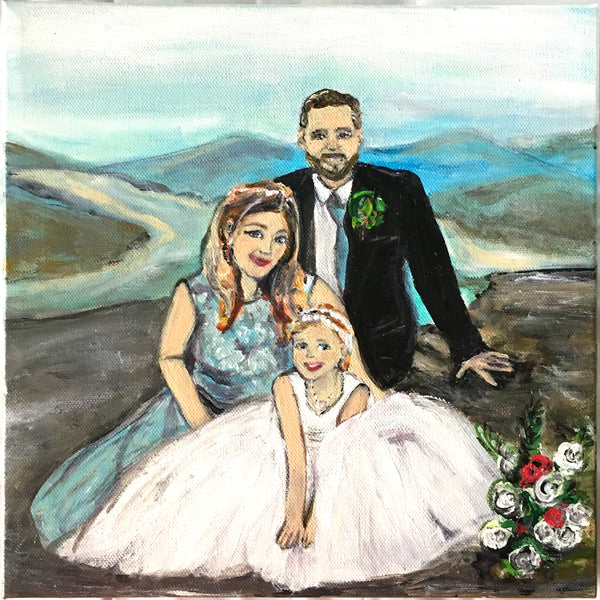 CUSTOM ORDER!   Special Occassion Portraits: Weddings, Anniversaries, Performance, Pets, etc.. / Acrylic on Canvas