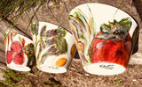 Hand-Painted Porcelain Salad/Dip Bowls