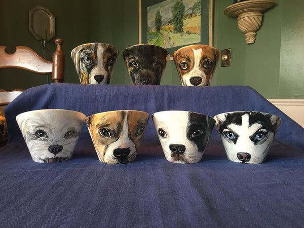 """PupArt"" CUSTOM PUPPY Art Bowls:  **NOW IN 3 SIZES!"