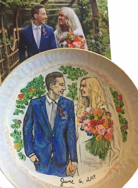 Porcelain Hand-Painted Custom Decorative Plates: Pets, Portraits etc..