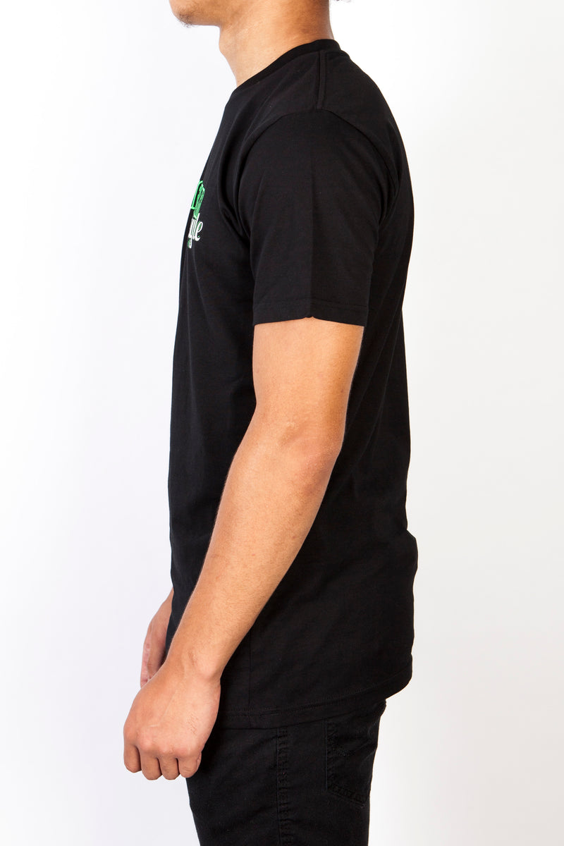 ATM Lifestyle Lime on Black T-Shirt