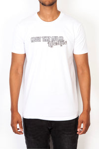 ATM Lifestyle Grey on White T-Shirt