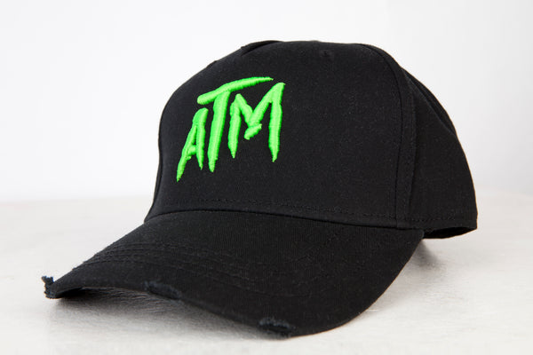ATM Lime on Black Cap