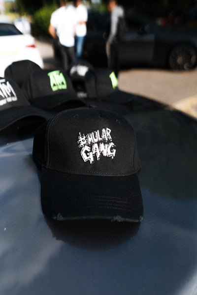 #MularGang White on Black Cap