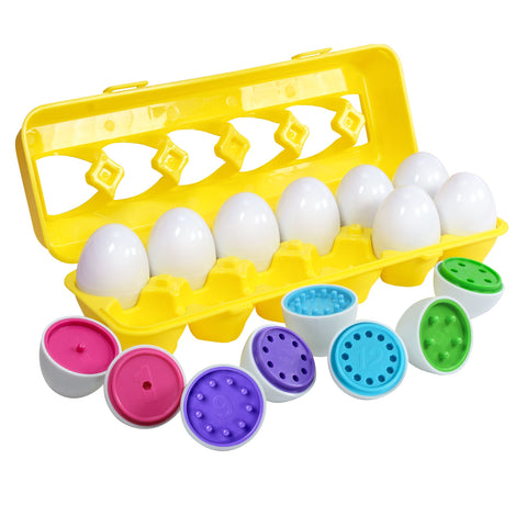 Color Matching Egg Set - Educational Color & Number Recognition Skills Learning Toy for Toddlers