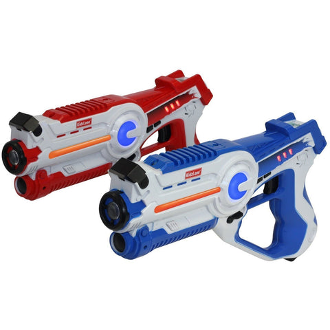 Laser Tag Game - Set of 2 Blue / Red