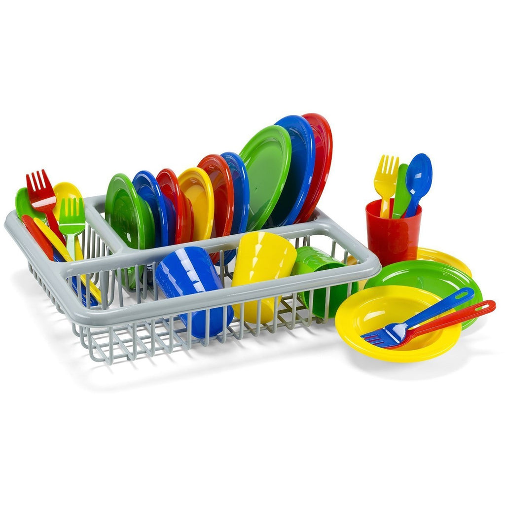 Kids Play Dishes - 29 Piece with Drainer - Kidzlane