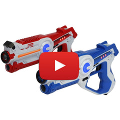 Laser Tag Game - Set of 2 Blue / Red - Kidzlane
