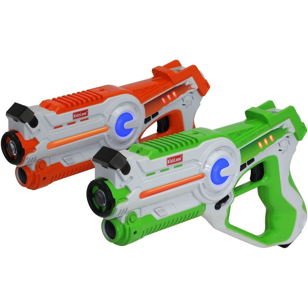 LASER GUN TAG GAME - SET OF 2 - GREEN/ORANGE - Kidzlane