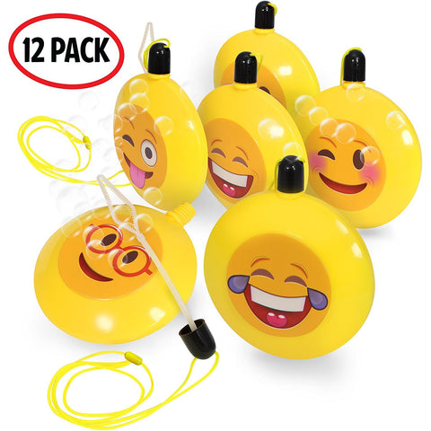 Emoji Bubble Necklaces | bubbles party favors | 12 Pack