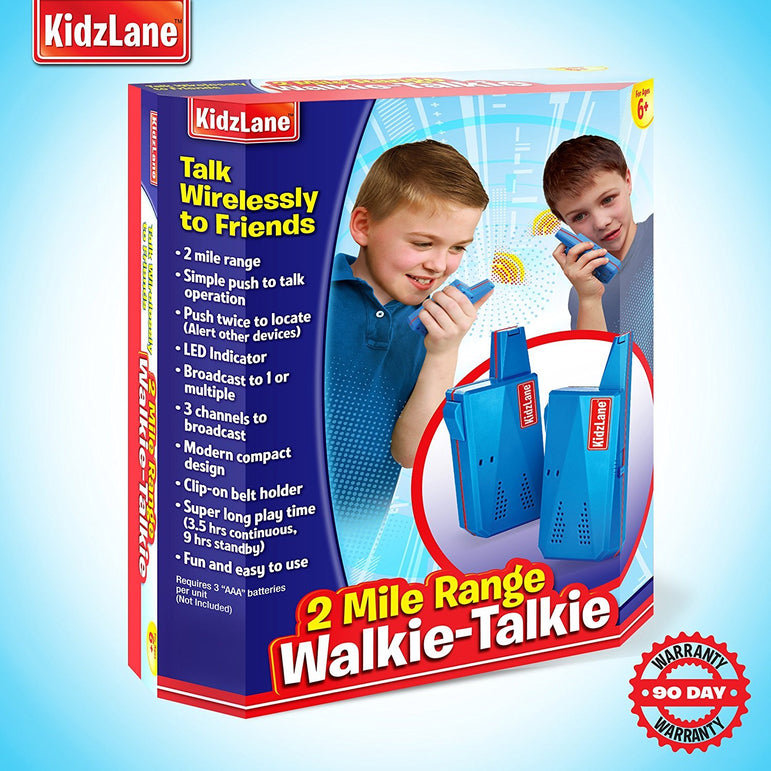 Kids Walkie Talkie Blue - Kidzlane