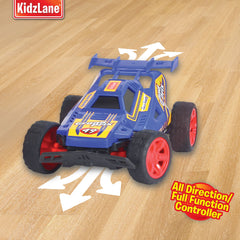 Kidzlane Grand Prix Racing Cars, Set of Two - Easy to Control and Race Together with All-Direction Drive and 35 Foot Range - Kidzlane