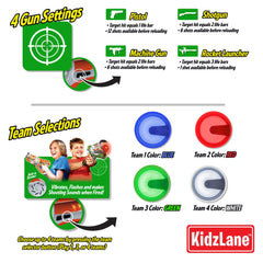 Laser Gun Tag Game Mega Pack - Set of 4 - Kidzlane